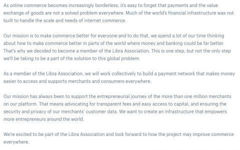 加拿大电商Shopify的加入,是否会给Libra带来新希望?