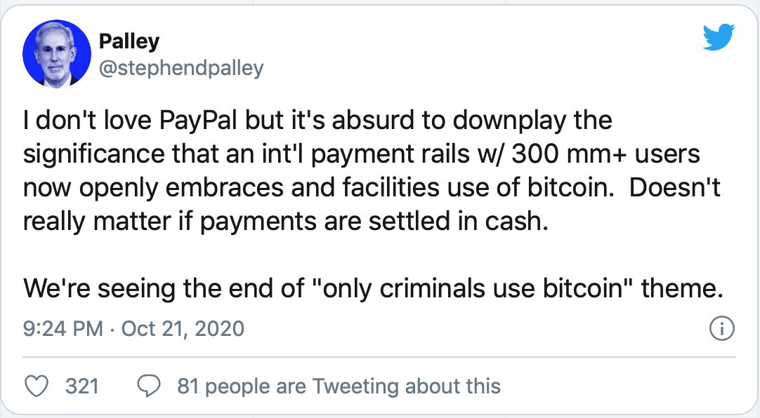贝宝将推动比特币的大规模采用,这篇文章告诉你原因