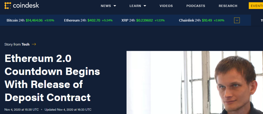 OKEx Insights:以太坊2.0存款合约已完成9% 如何参与抵押?