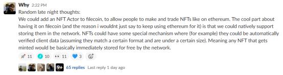 Filecoin或将支持NFT ,届时矿工将获得10倍有效算力