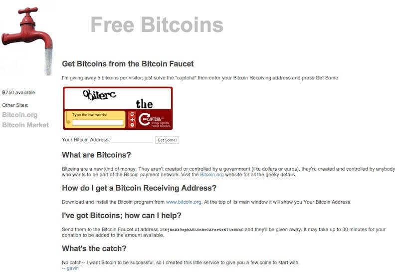 """Reddit上重提已不复存在的""""比特币水龙头""""网站,此网站曾免费赠送19700个比特币"""